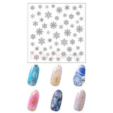 Daily Charme Nail Art StickersClou Japanese Nail Art Sticker / Eternal Snow / Silver