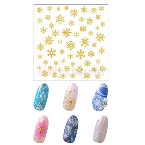 Daily Charme Nail Art StickersClou Japanese Nail Art Sticker / Eternal Snow / Gold