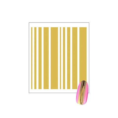 Daily Charme Clou Japanese Nail Art Sticker / Lines / Gold Foil