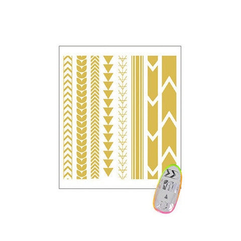 Daily Charme Clou Japanese Nail Art Sticker / Tattoo Line / Gold Foil