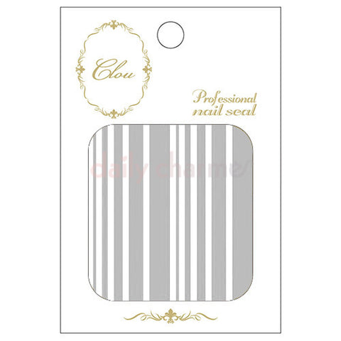 Daily Charme Clou Japanese Nail Art Sticker / Lines / Silver Foil