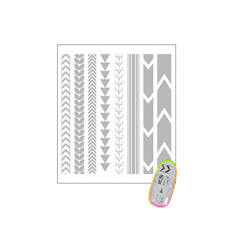 Daily Charme Clou Japanese Nail Art Sticker / Tattoo Line / Silver Foil