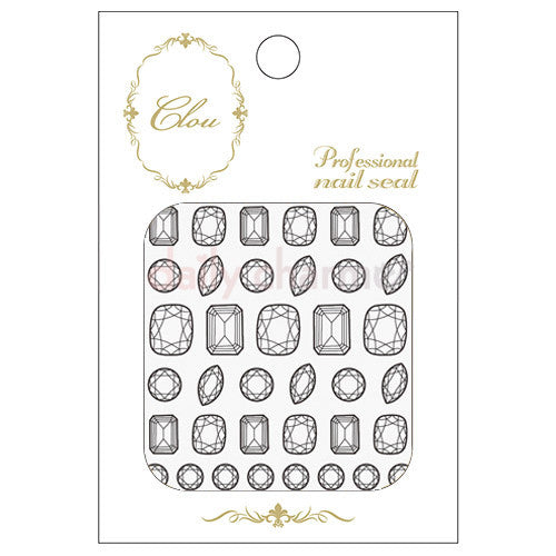 Daily Charme Clou Japanese Nail Art Sticker / My Jewels