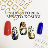 Clou Japanese Nail Art Sticker / My Triangle / Gold