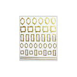 Daily Charme Japanese Nail Art Supply Decoration Stickers Clou Japanese Nail Art Sticker / My Square / Gold