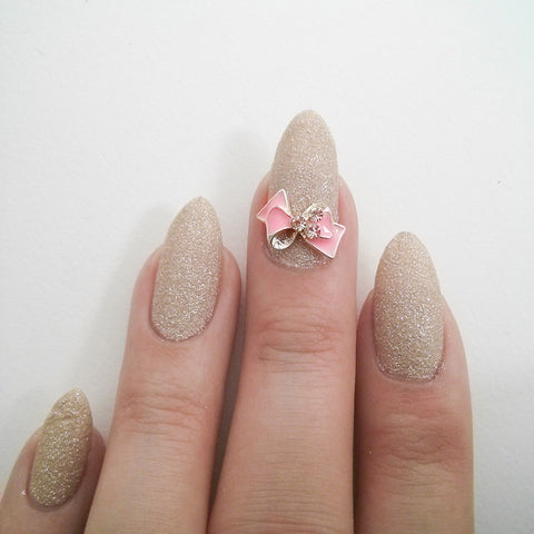 Nail Art Decoration - Fancy Bow / Pink