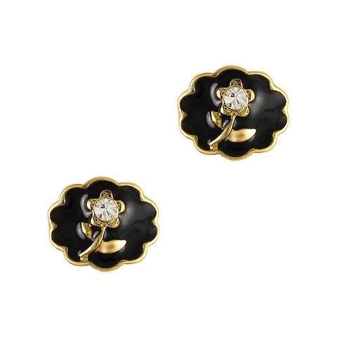 beautiful black Vintage Rose Cameo 3D nail charms