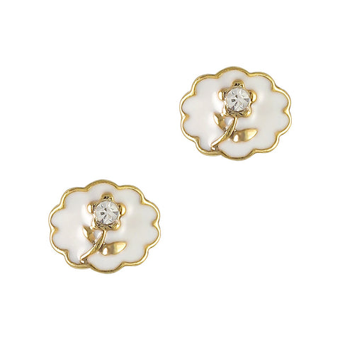 vintage white Vintage Rose Cameo 3D nail charms