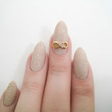 Nail Art Decoration - Infinity Bow / Gold