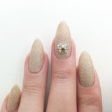 Nail Art Decoration - Mini Bow / Gold