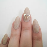 Nail Art Decoration - Ribbon Bow / AB Crystal