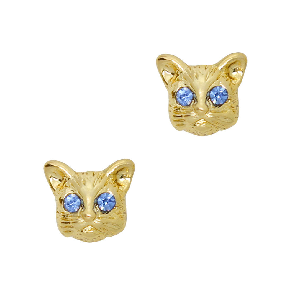 3D Nail Art Charm Jewelry Hypno Cat/ Gold