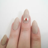 Nail Art Decoration - Kitty Bow / Pearls