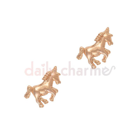 Unicorn Rose Gold Nail Art Charm Accessory Jewelry