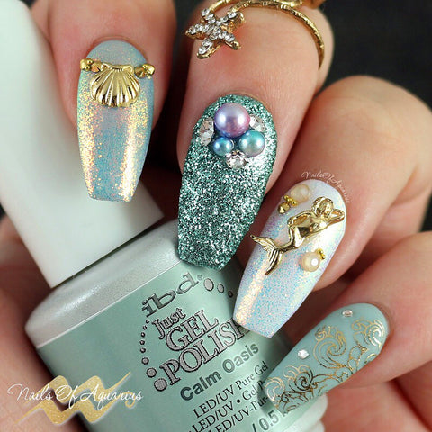 Daily Charme Mermaid Charm Nail Art 2017 Summer Nail Glitters