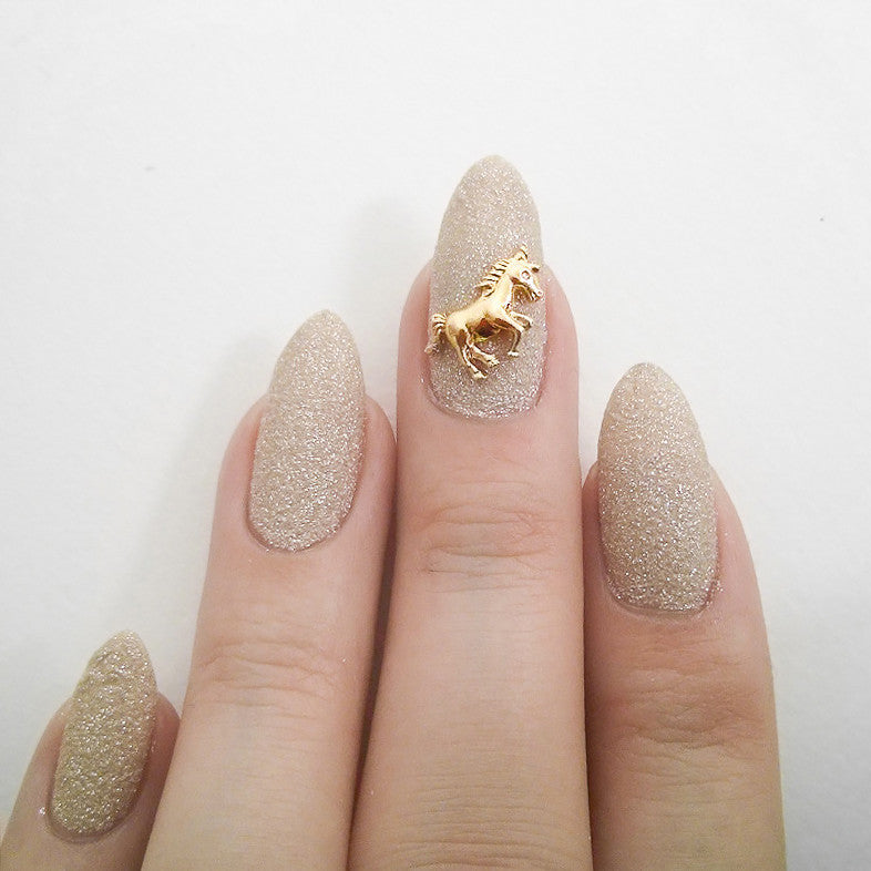 Nail Art Decoration - Unicorn / Gold