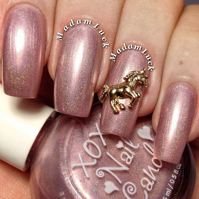Nail Art Decoration - Unicorn / Gold Charm Jewelry