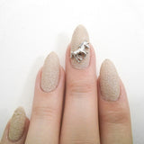 Nail Art Decoration - Unicorn / Silver