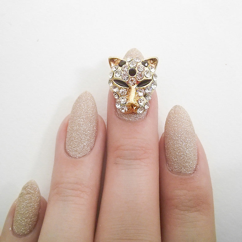 Nail Art Decoration - Leopard / Large