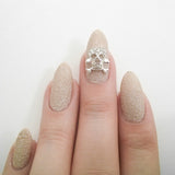 Nail Art Decoration - Skull & Crossbones / Silver