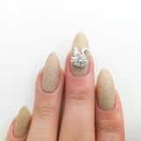Nail Art Decoration - Swan / Clear Crystal