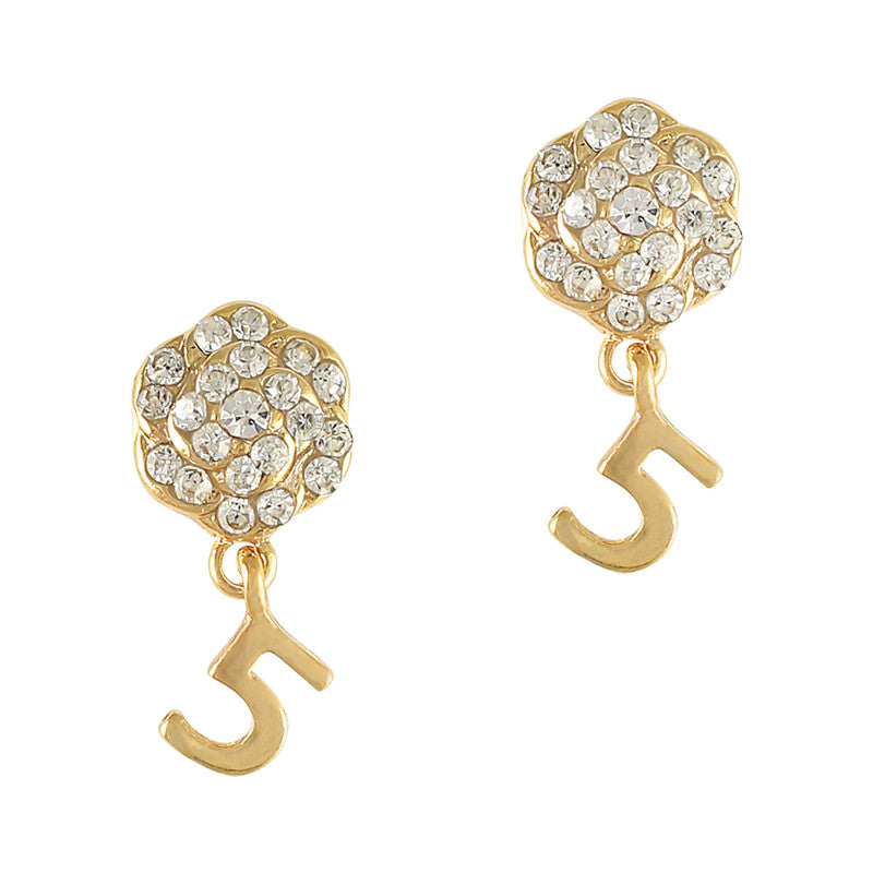 Coco Gold Camellia Dangle 3D nail charms