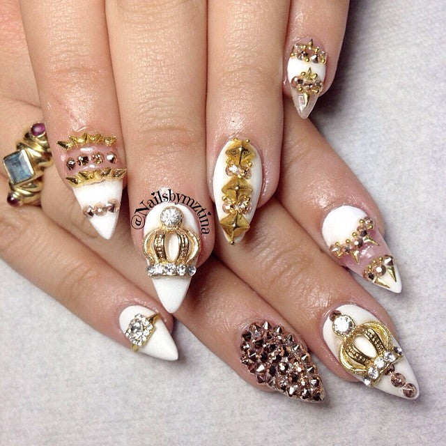 Nail Art Decoration Jane's Crown Gold Charm Jewelry 3D