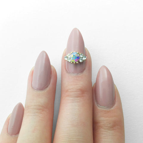 Nail Art Decoration - Alice's Tiara / AB Crystal