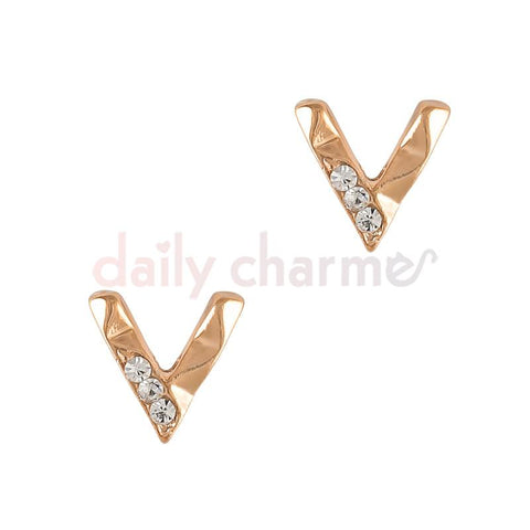 Rose gold 3D Nail Art Charm Decorative Geometric Bend
