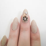 Nail Art Decoration - Cosmo with Hanging Rhinestone / Black