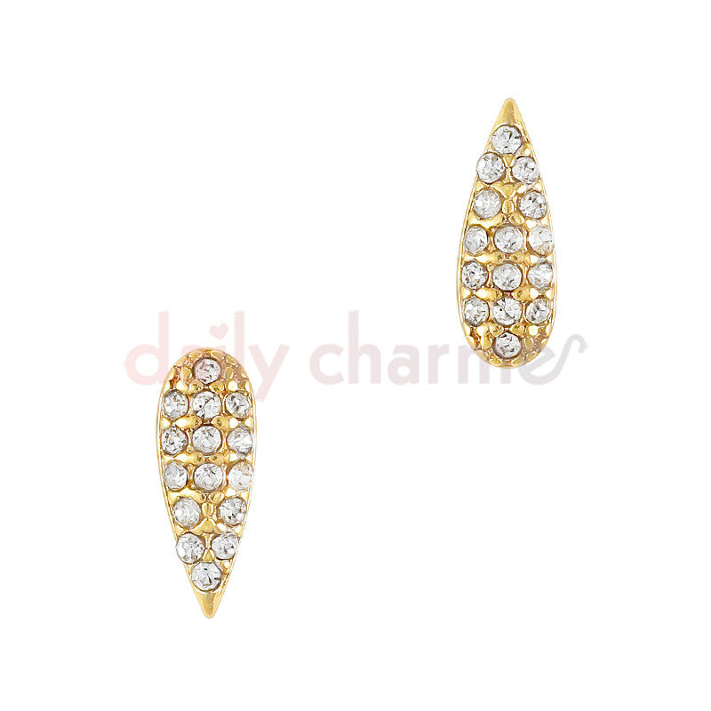 Daily Charme 3D Nail Art Charm Bedazzled Drop / Gold