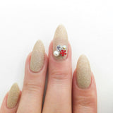Nail Art Decoration - Spring Flower Cluster / Red