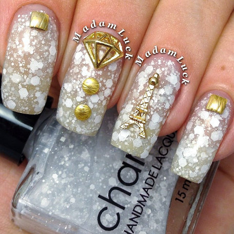 Nail Art Decoration - Diamond / Small / Gold Charm Jewelry 3D