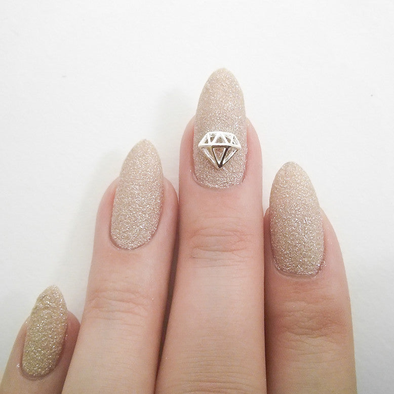 Nail Art Decoration - Diamond / Small / Silver