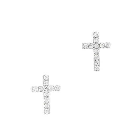 Nail Art Decoration - Cross / Silver