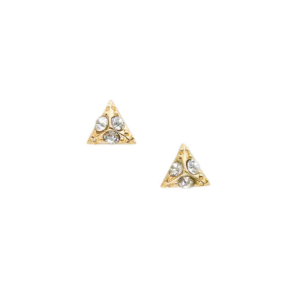 Nail Art Charm Jewelry Decoration - Pyramid / Small / Gold