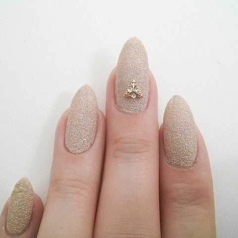 Nail Art Decoration - Pyramid / Small / Gold