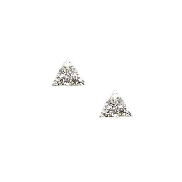 Nail Art Decoration - Pyramid / Small / Silver