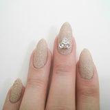 Nail Art Decoration - Triangle Cluster / Clear Crystal