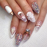 Wedding Diamond Ring Nails / Rose Gold