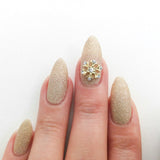 Nail Art Decoration - Snowflake / Gold