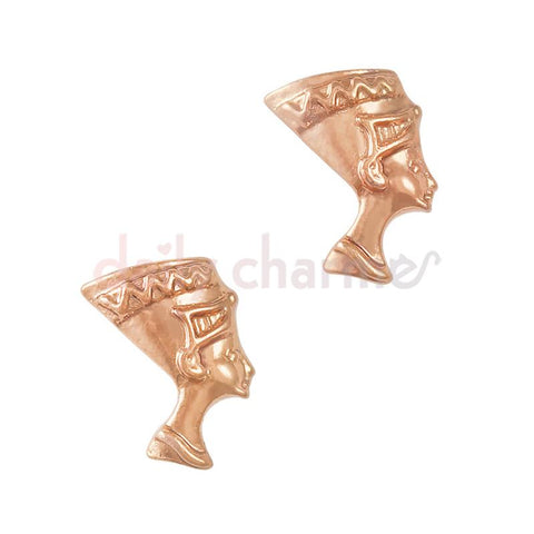 Nail Art Charm Egyptian Queen / Nefertiti / Rose Gold