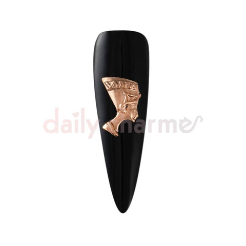 Nail Art Charm Egyptian Queen / Nefertiti / Rose Gold Vintage
