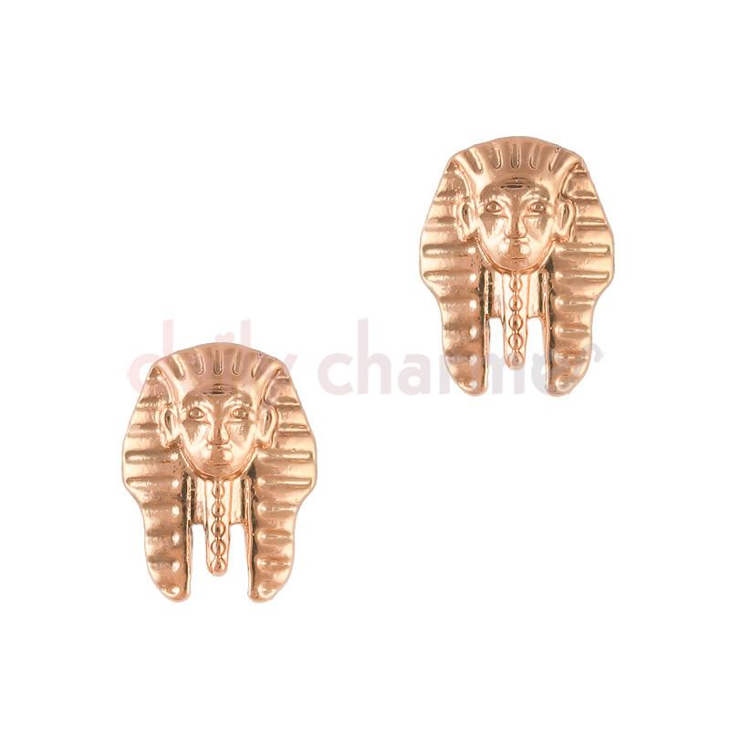 Egyptian Pharaoh Rose Gold Nail Art Supply Charm Jewelry 3D Decor