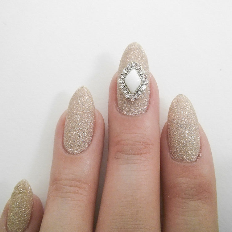 Nail Art Decoration - White Diamond Gem