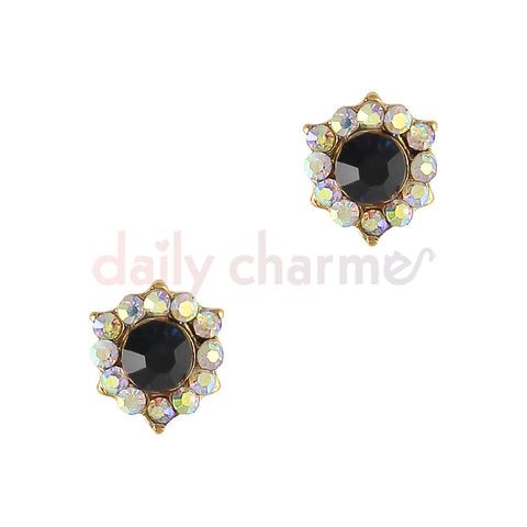Daily Charme 3D Nail Art Charm Decorative Onyx Gem / Gold