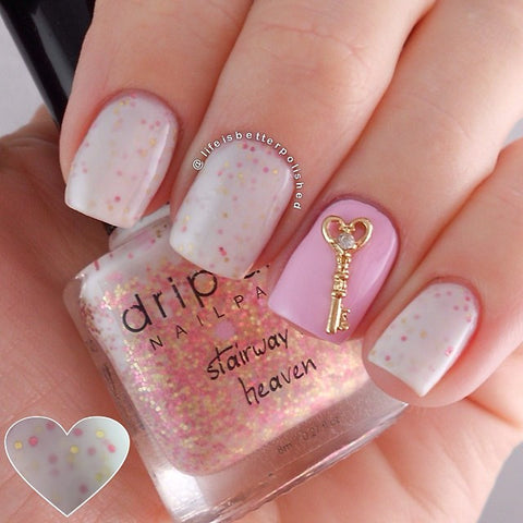 Nail Art Decoration - Key To Your Heart