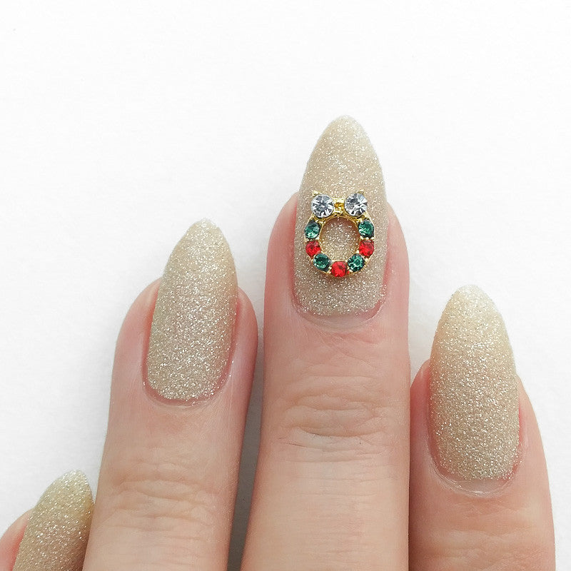 Nail Art Decoration - Holiday Wreath