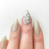 Nail Art Decoration - Diamond Bow Charme / Silver