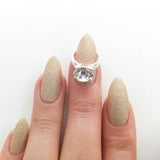 Nail Art Decoration - Diamond Ring / Silver